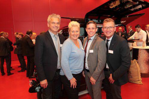 V. l.: Dietmar Brunner, Beate Moser, Bernhard Metzler, Jürgen Albrecht.