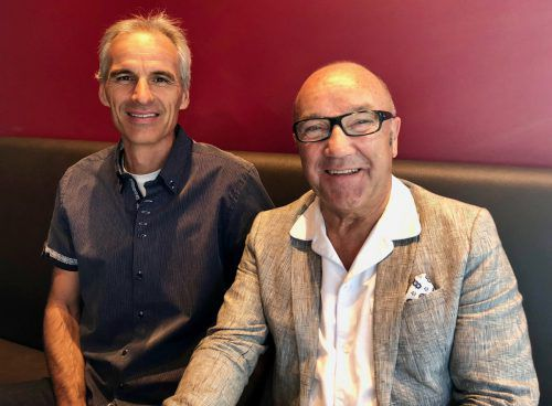 Visionäre unter sich: Jürgen Marcabruni und Paul Ammann. CM
