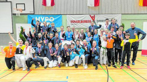Vorarlbergs Nachwuchssportler verbuchten mit Heimvorteil in Höchst eine neue Rekordausbeute von 53 Medaillen.Verband