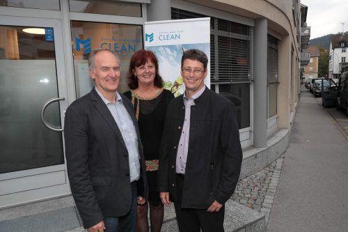 Werner Jochum (Bludenz), Christine Köhlmeier (FK) und Dir. Günter Amann.