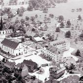 Vorarlberg im Wandel – aus der Drohnen-Perspektive. Ortszentrum von Hörbranz