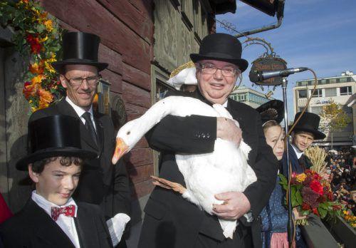 Die Eröffnung der Martinimärkte ließ sich Wolfgang Rümmele nie entgehen.