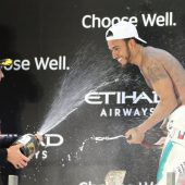 Hamilton-Party in Abu Dhabi