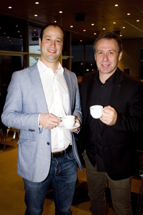 Automatisierungstechniker Simon Hefel und Caterer Ernst Seidl.