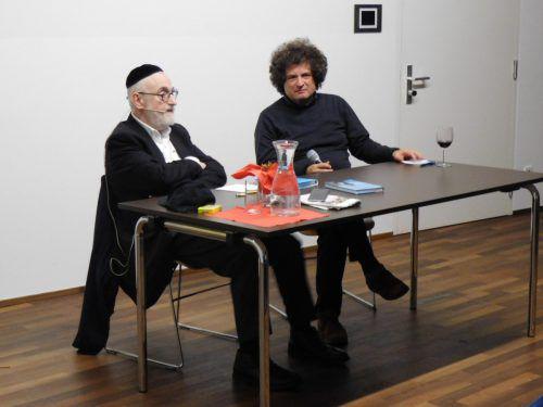 """Beim diesjährigen Abschluss von """"Mäder trifft"""" gab der Oberrabbiner Paul Chaim Eisenberg Einblicke ins Judentum. Michael Mäser"""