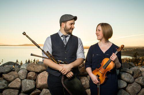 Ben Miller und Anita MacDonald aus Cape Breton beherrschen ihre Instrumente perfekt.Ben Miller & Anita MacDonald