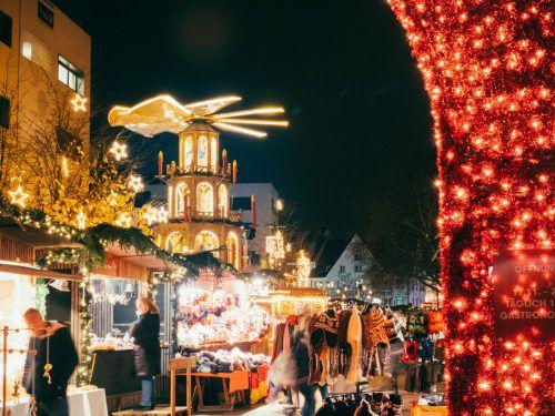 Bereits heute wird der Bregenzer Weihnachtsmarkt feierlich eröffnet. BT/mittelberger