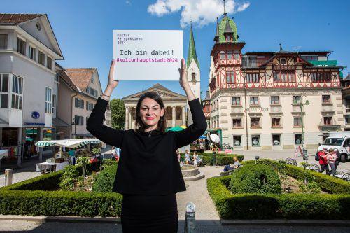 Bettina Steindl leitet das Kulturperspektivenbüro und hat die Unterlagen zur Bewerbung um den Kulturhauptstadt-Titel bereits eingereicht. VN/Steurer