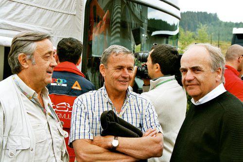 Bild aus früheren Tagen: Karl-Heinz Zimmermann (r.) feierte seinen 70. Geburtstag u. a. mit Bruder Egon (Mitte) und Walter Wolf (l.).noger