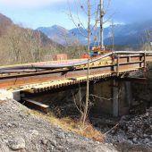 In Mellau entsteht neue Brücke