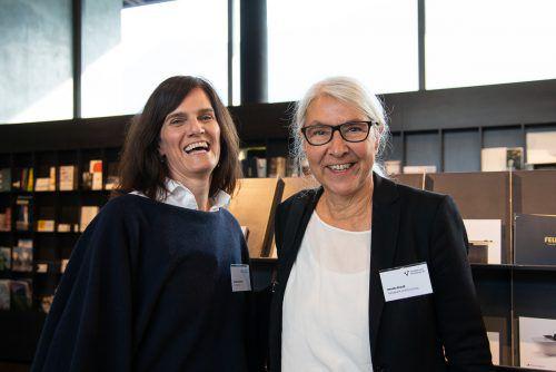 Coach Monika Eberharter und Renate Breuß (Handwerk und Forschung).
