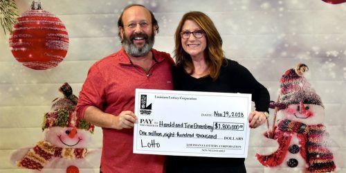 Das Paar will das Geld für den Ruhestand zurücklegen. Louisiana Lottery