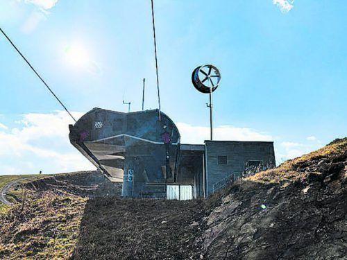 Das Venturicon-Windrad sollte in der Wintersaison am Golm getestet werden.