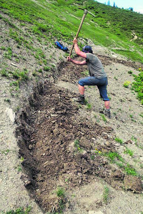 Der Alpenverein Vorarlberg führt jedes Jahr umfangreiche Wanderwegsanierungen durch. VLK