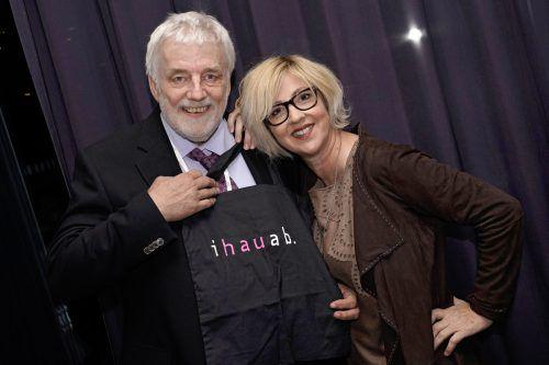 Der frühere Fries-GF Thomas Rhomberg mit Kabarettistin Gabi Fleisch. Fa/sillaber