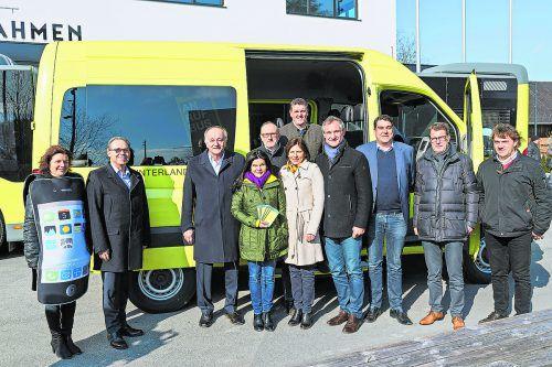 Der ANRUFBUS vom Gemeindeverband Personalverkehr unteres Rheintal wurde ausgezeichnet.
