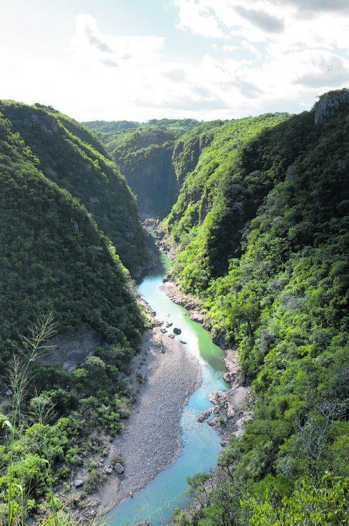 Der Rio Coco fließt durch den Somoto Canyon im Norden Nicaraguas.