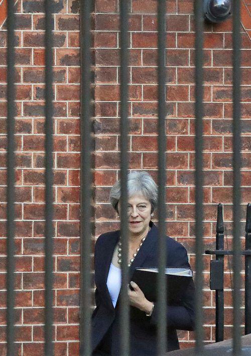 """Der """"Times"""" zufolge hat Premierministerin May das Zugeständnis aus Brüssel, dass ganz Großbritannien in der Zollunion bleiben kann. AP"""