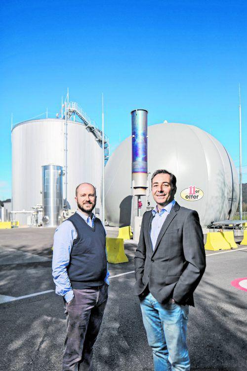 Die 11er-CEOs Clemens Grabher (47) und Thomas Schwarz (49) betreiben ökologischen Prozesskreislauf.