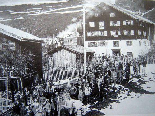 Die alte Mühle in Rehmen im Ersten Weltkrieg. Gemeinde Au