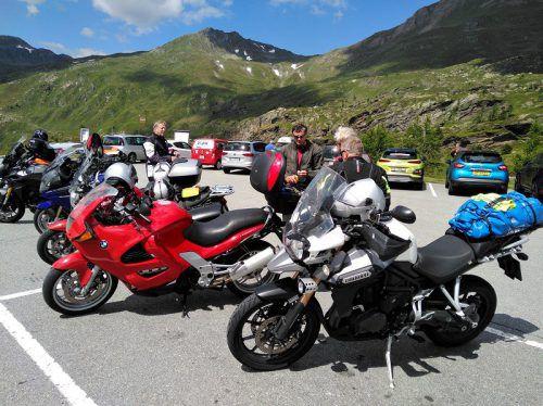 Die Biker des Pensionistenverbandes genossen ihren ausgiebigen, wenn auch kühlen Ausflug über die Alpen. PVÖ