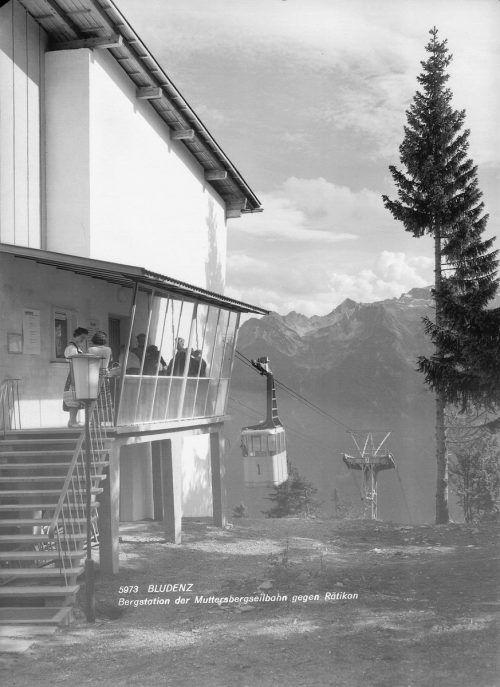 Die ehemalige Bergstation der Muttersbergbahn.