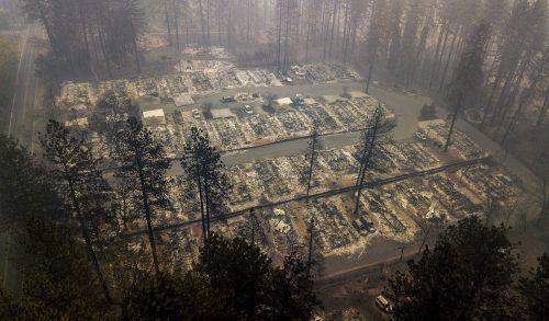 Die Kleinstadt Paradise wurde inmitten von Wäldern ein Raub der Flammen. AP