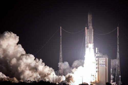 Die Sonde Bepicolombo wurde mithilfe einer Ariane-5-Rakete ins All gebracht. Mitte Dezember kommen erstmals die Ionen-Triebwerke derSonde zum Einsatz. AFP