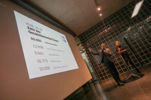 Direktor Thomas D. Trummer und Pressechefin Martina Feurstein: Heuer wird mit insgesamt 50.000 Besuchern gerechnet. VN/Hartinger