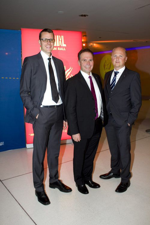 Drei der Organisatoren: Michael Kempf (l), Michael Amann und Andi Staudacher.