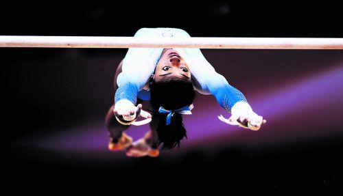 Dreimal Gold und Stufenbarren-Silber: Simone Biles war bei der WM in Doha wieder einmal die überragende Kunstturnerin.apa