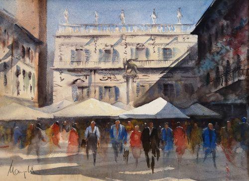 Eines der Werke des Hörbranzer Künstlers Gerhard Mangold, entstanden bei seiner jüngsten Italienreise. Mangold