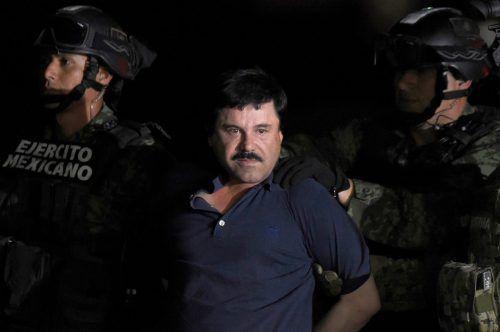 """""""El Chapo"""" wird unter anderem Drogenhandel, Geldwäsche und das Führen einer kriminellen Organisation vorgeworfen. Zudem soll er für bis zu 3000 Morde verantwortlich sein. AFP"""