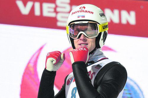 Erster russischer Sieg im Springer-Weltcup: Jewgenij Klimow. apa