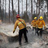 Waldbrände in Kalifornien: Suche nach Überlebenden geht weiter
