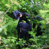 Knochenfund: Polizei bereitet große Spurensuche vor. B1