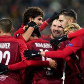 Salzburg feiert vierten Sieg (5:2) im vierten Gruppenspiel der Europa League. C1