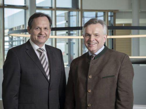 Helmut Gstöhl (li.) und Helmut Lenz berichten über ihr Geschäftsmodell. FA