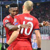 FC Bayern mit einem Kantersieg (5:1) gegen Benfica. C1