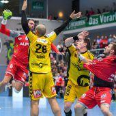 28:28-Remis endete das 90. Derby im Handball zwischen Hard und Bregenz. c1