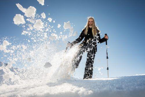 Frau Holle und die Schneekanonen haben vorgelegt: Lilia aus Dornbirn ist startklar für den Winter. VN/Steurer