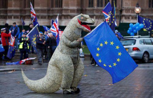Geht es nach diesen Demonstranten, sollte der britische EU-Austritt ganz abgesagt werden.  AFP
