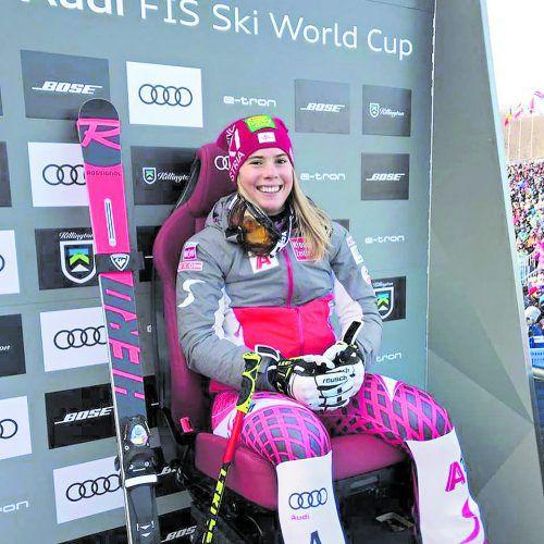 Genoss nach ihrer RTL-Laufbestzeit lange den roten Stuhl: Katharina Liensberger. Pfb