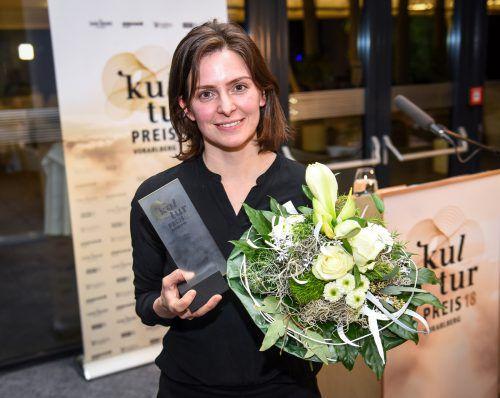 Gestern Abend ausgezeichnet: Künstlerin Claudia Larcher. Mittelberger