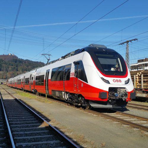 Die neue Talent 3-Zuggarnitur wird dieses Wochenende am Bregenzer Bahnhof der Öffentlichkeit vorgestellt.ÖBB/vLK