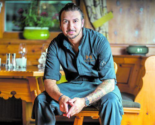Holt die Hauben nach Hause: Küchenchef Thomas Carvalho de Sousa vom Gourmet-Restaurant Löwen Stube. Hotel Löwen