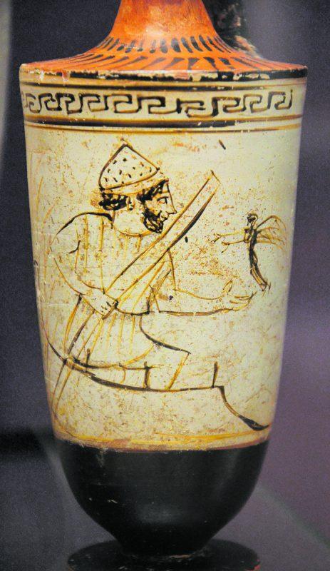 Im Ashmolean Museum in Oxford steht diese antike Vase aus Attika. Sie zeigt Charon, den Fährmann, der die Seele eines jungen Verstorbenen über den Fluss Acharon ins Totenreich rudert.Carole Raddato, Frankfurt; St. Arbogast.