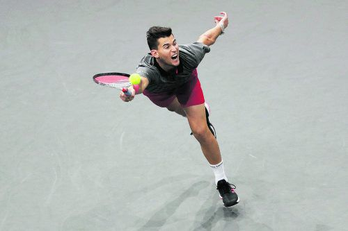 Im Halbfinale von Paris war für Dominic Thiem Endstation, er verlor gegen den späteren Sieger Karen Chatschanow.ap