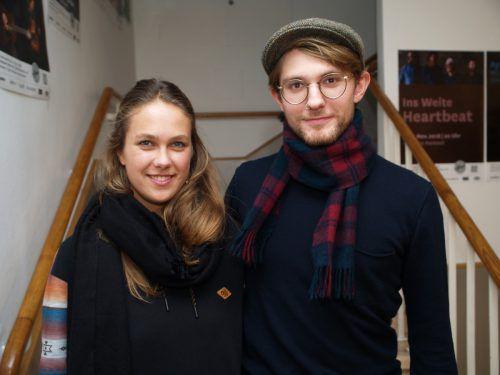 Im Publikum: Emilie Stecher und Musiker Leonard Winter.