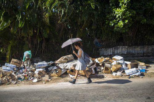In Havanna türmt sich der Müll auf den Straßen. AP